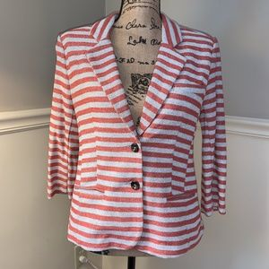 CARTONNIER for Anthropologie Terry Stripe Jacket S